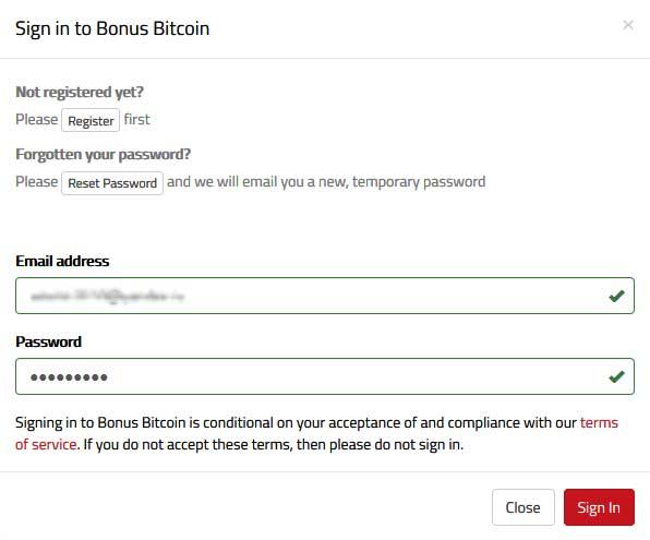 Bonusbitcoin - отличный кран для сбора биткоинов